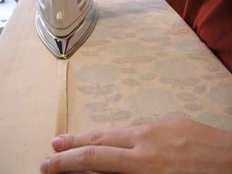 Gấp mép vải và ủi phẳng