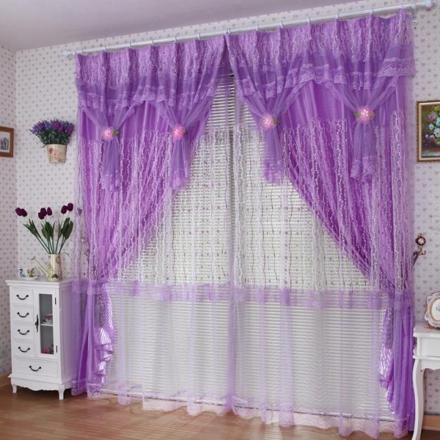 Rèm cửa sổ màu tím mang đến sự lãng mạn