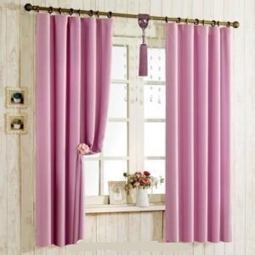 Rèm cửa sổ với màu hồng tím