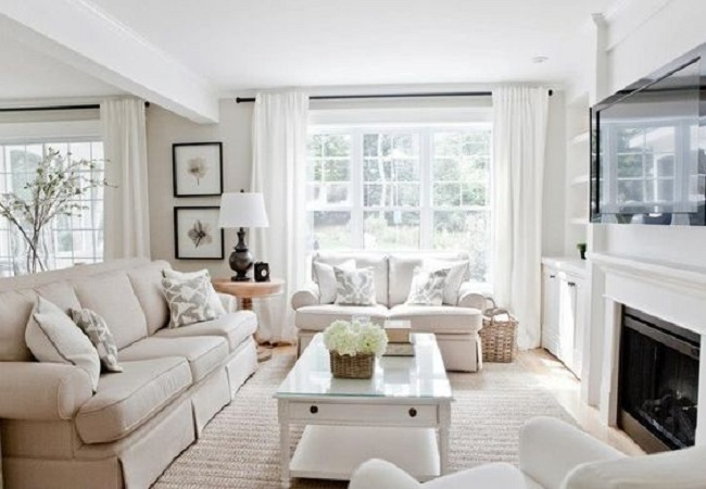 Rèm cửa màu trắng vẫn luôn khẳng định được vị trí của mình trong bất cứ không gian nào