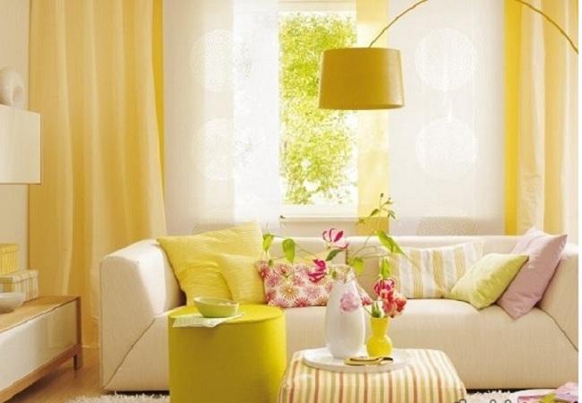 Mang sắc vàng mùa thu vào phòng khách với cách bài trí thông minh