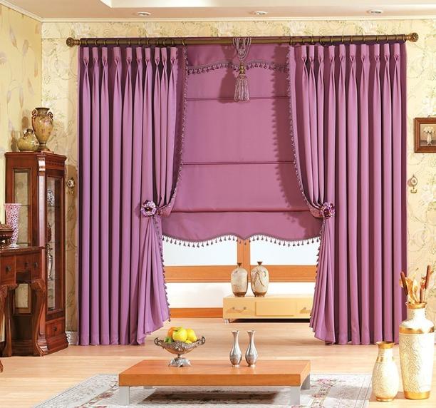 Rèm cửa sổ phòng khách bằng vải bố