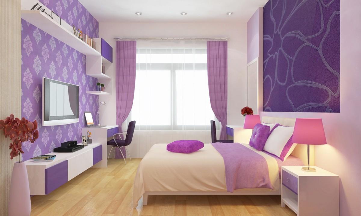 Rèm phòng ngủ màu tím cho không gian riêng tư và lãng mạn hơn